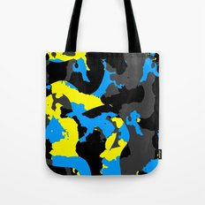 Black Blue yellow and Gray Abstract Tote Bag