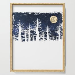 Forest Moon Starry Sky Serving Tray