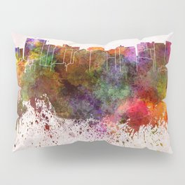 Oakland skyline in watercolor background Pillow Sham