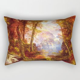 Under The Trees 1865 By Thomas Moran | Natural Wildlife Scenery Reproduction Rectangular Pillow