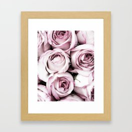 A Cascade of Perfectly Pink Roses Framed Art Print