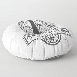 France Stamp Floor Pillow