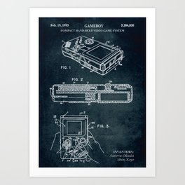 1993 - Compact hand-held video game system (Gameboy) Art Print