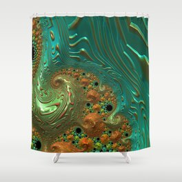 Cool Creamsicle - Fractal Art Shower Curtain