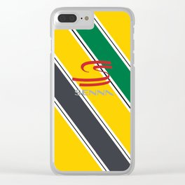 Ayrton Senna Stripes Logo Clear iPhone Case