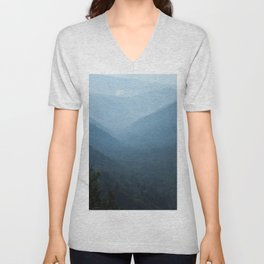 Morning mountains going into the distance Unisex V-Neck
