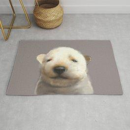 Jindo puppy runny nose Rug