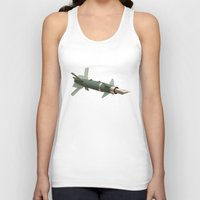 aviation Tank Tops featuring sky writing by Nicholas Ely