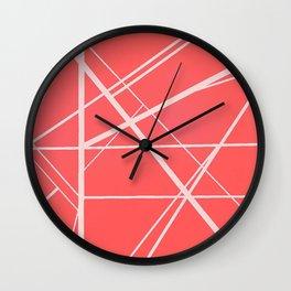 Crossroads - Pink Wall Clock