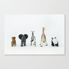 ANIMALS BACKS Canvas Print