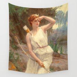 Guillamume Seignac Diana The Huntress 1870 Roman Mythology Goddess Of The Hunt Moon And Nature Wall Tapestry