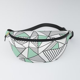 Abstraction Lines with Mint Blocks Fanny Pack