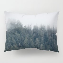 Misty Morning - Fog Rises off Mountains Revealing Forest in Washington Pillow Sham