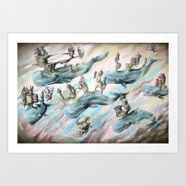 Whale Castles Art Print