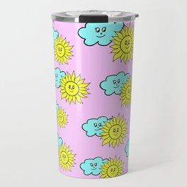 Cute baby design in pink Travel Mug