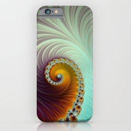 Winter Sunset - Fractal Art  iPhone Case