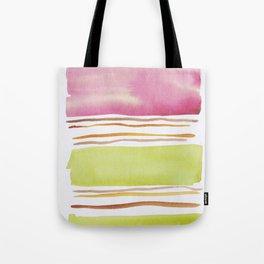 18  |181026 Lines & Color Block | Watercolor Abstract | Modern Watercolor Art Tote Bag