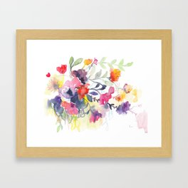 Imaginary garden Framed Art Print