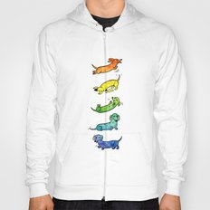 Watercolor Dachshunds Hoody