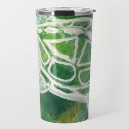 Cosmic Emerald Turtle Guardian Travel Mug