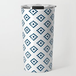 Geometrical abstract hand painted navy blue pattern Travel Mug