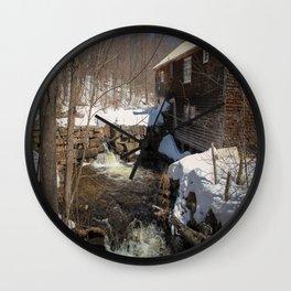Grist Mill, Maine Wall Clock