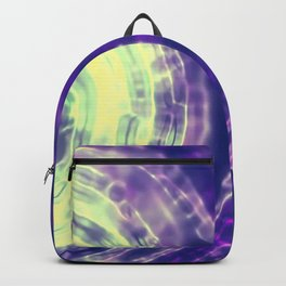 Green and Purple Abstract Backpack