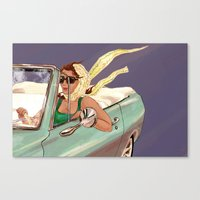 psychology Canvas Prints featuring The Psychology of Speeding by Michelle Kondrich