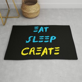 Eat Sleep Create - Concept Rug