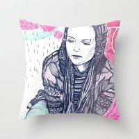 daria Throw Pillows featuring daria by Andon Georgiev