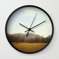 kentucky Wall Clocks featuring Kentucky Hills by KimberosePhotography