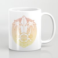 hawaii Mugs featuring Hawaii by Aniskova Yulia