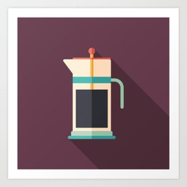 French Press Coffee Art Print