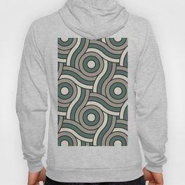 Circle Swirl Pattern Ever Classic Gray 32-24 Thistle Green 22-18 and Dover White 33-6 Hoody