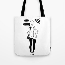 Wifi connection Tote Bag
