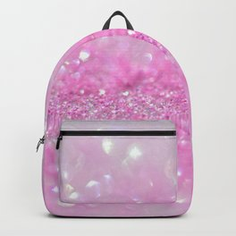 Sparkling Baby Girl Pink Glitter Effect Backpack