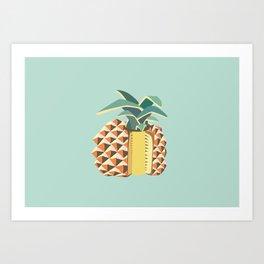 Pineapple illustration Art Print
