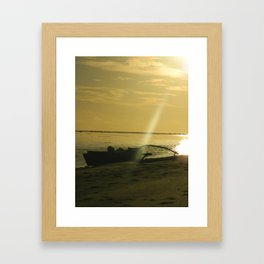 Outrigger canoe Framed Art Print
