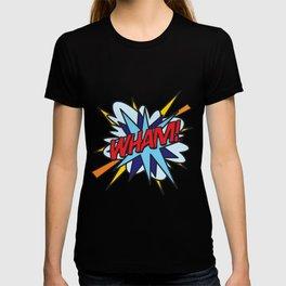 WHAM Comic Book Flash Pop Art Trendy Cool Typography T-shirt