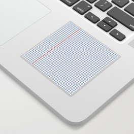 Dotted Grid Red and Blue Sticker