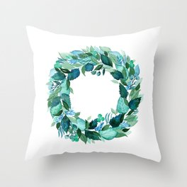 Dress Blues Botanical Throw Pillow