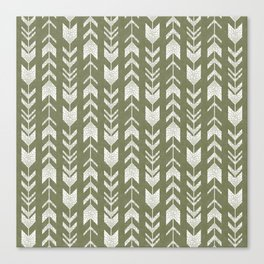 fletching arrows - green olive Canvas Print