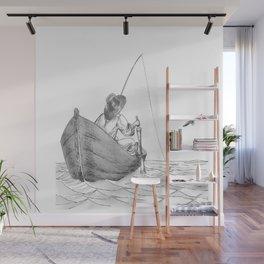 man fishing Wall Mural