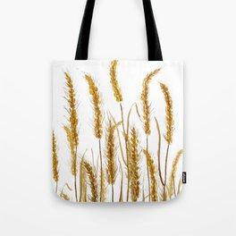 golden wheat field watercolor Tote Bag