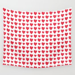 Red Hearts Pattern Wall Tapestry