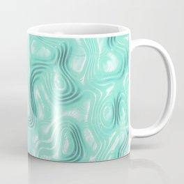 Turquoise Liquid Plastic Surface Coffee Mug