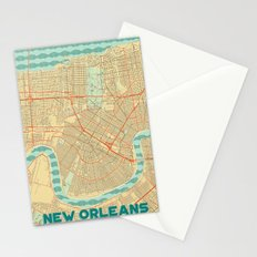 New Orleans Map Retro Stationery Cards