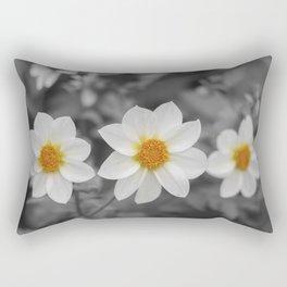 Three Flowers Rectangular Pillow