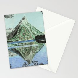 Serenity of Milford Sound, New Zealand Stationery Cards