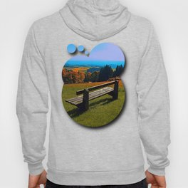 Summertime scenery and the bench to watch it Hoody